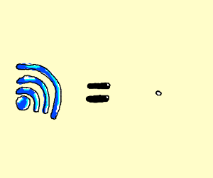 Internet = hard to see white blob