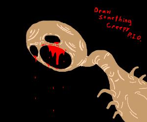 Draw something creepy, PIO