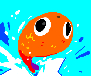 Fish jumps out of water