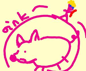 Kid in ham wheel thinks hes better than peto b