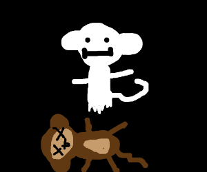 monkey turns into a ghost