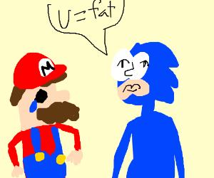 Sonic Calls Mario Fat