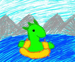 loch ness monster cant swim