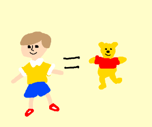 Cristopher robin is winnie the pooh