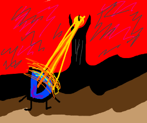Drawception D being attacked my Mordor