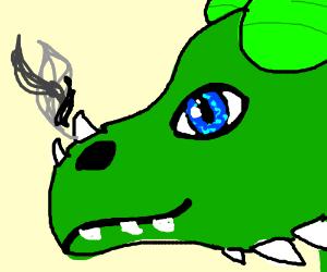 a green dragon