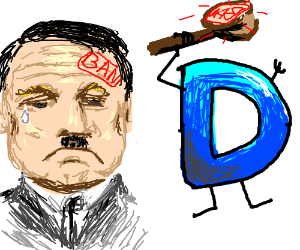 Hitler gets banned from Drawception.