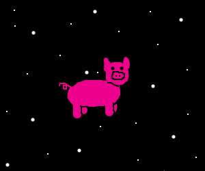 Flying Piggy in the spaceeeee!