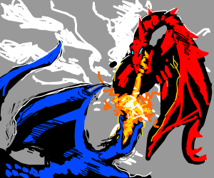 2 Dragons Fighting.