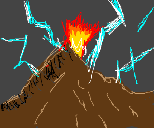 A Mountain With Thunder, Lightning, and Fire