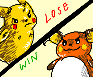 pikachu losing against Raichu