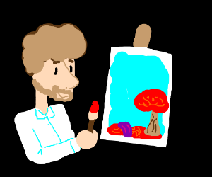 Colorblind(?) Bob Ross.