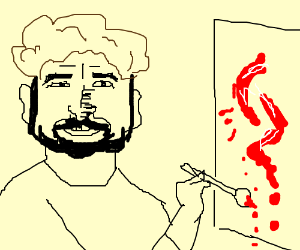 Bob Ross Painting with Blood