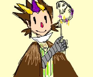 Owl-human hybrid is a dark wizard