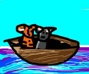 cats on a boat