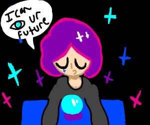 Purple Haired Fortune Teller