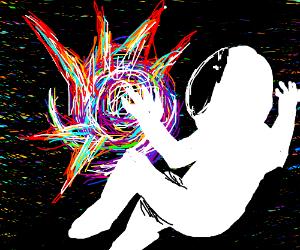 Exploding galaxy