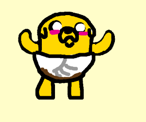 jakeTheDog(AdventureTime)pooped in his diaper