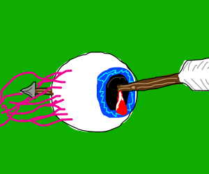 arrow shot eyeball