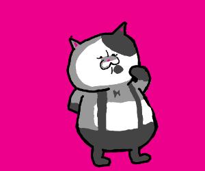 Fancy cat professor with bow tie