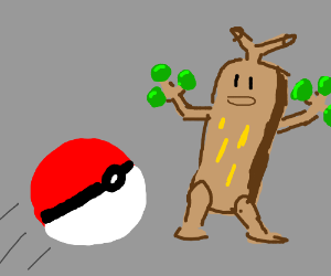lol pokeball chooses green tree veg broccoli