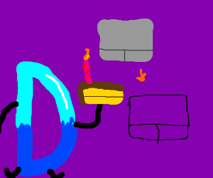 D Bakes Cake to Congratulate Trackpad Traces!!