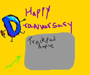 Happy Drawversary Trackpad People