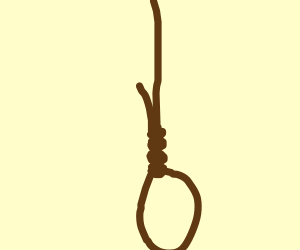 A knot near the end of a rope.