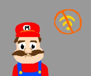 Mario has no Wifi