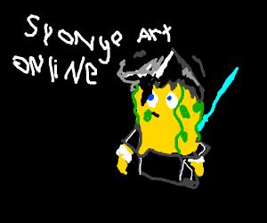 Spongebob as Kirito from Sword Art Online