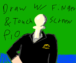 Draw with touchscreen&finger pio