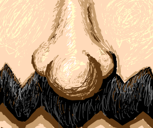 close up on wario's nose