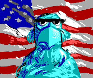 Sam the Eagle being Patriotic
