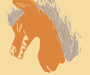 Demon Red Head Horse