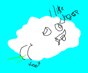 a derpy cloud farting that likes cheese