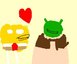 Spongebob x Shrek (Shrekbob?0