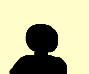 a silhouette of a man filling half the image