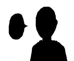 silhouette of a bald humanoid