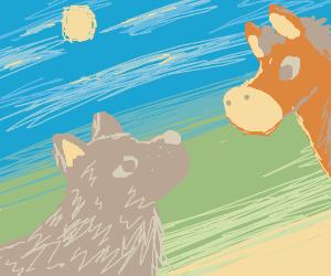 Wolf/Horse