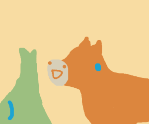 Wolf and a horse