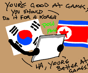 Flag playing video games