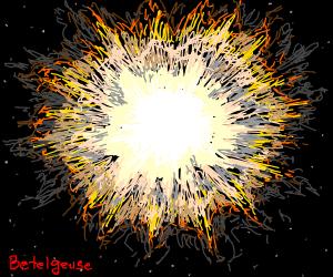 Bright Striking Supernova in Orian(betelguese)