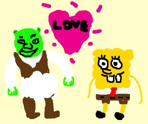 shrek x spongebob, a wattpad love story.