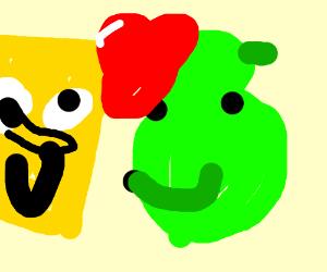 Shrek loves Spongebob