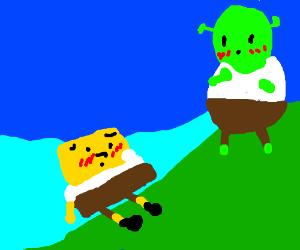 Shrek x spongebob (?)