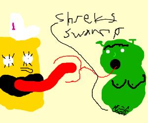 Spongebob X Shrek