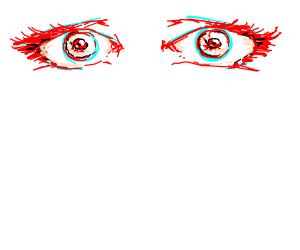 beutifull red eyes