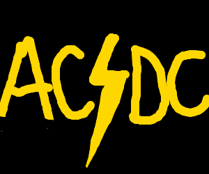 ACDC Rock Band Logo with the Letters