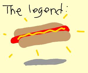 the legendary floating Hotdog