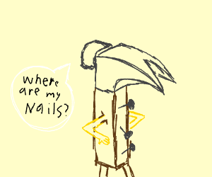 Guys can't find nails